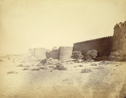 Close view of the walls of the Fort, Rohtak.